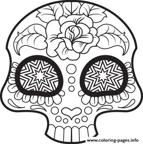 15 best SUGAR SKULL COLORING PAGES images on Pinterest Coloring