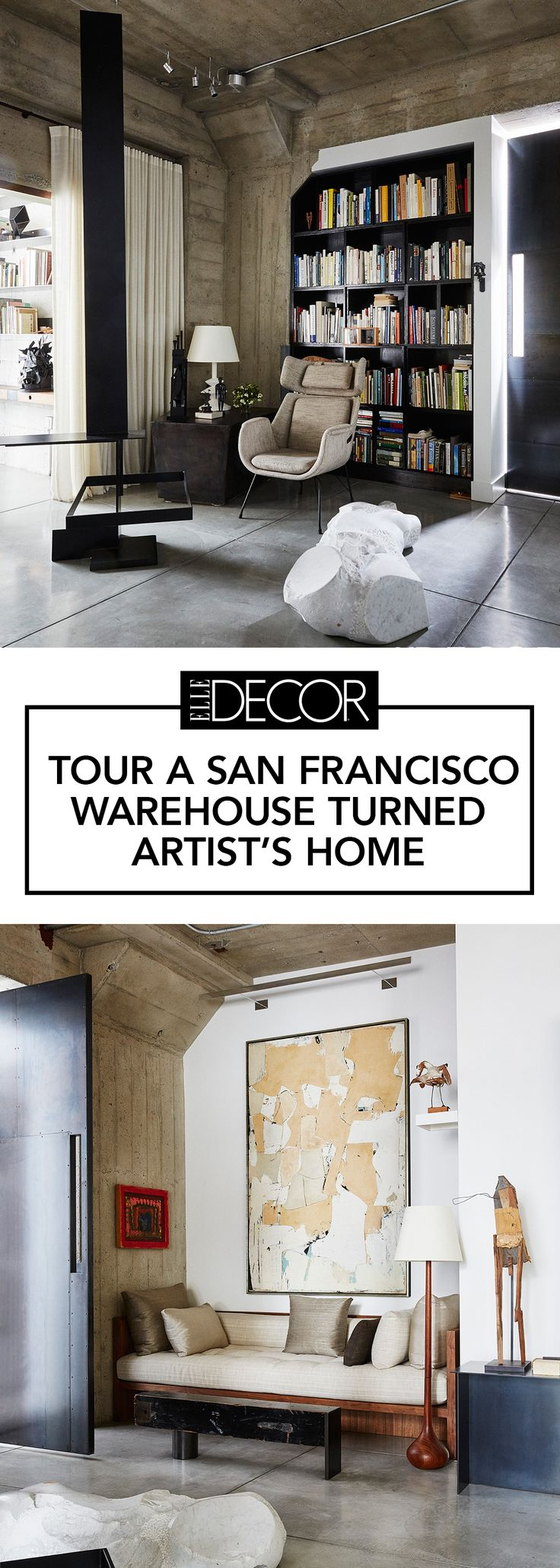 A warehouse was turned into a beautiful loft home in the heart of San Francisco, California.