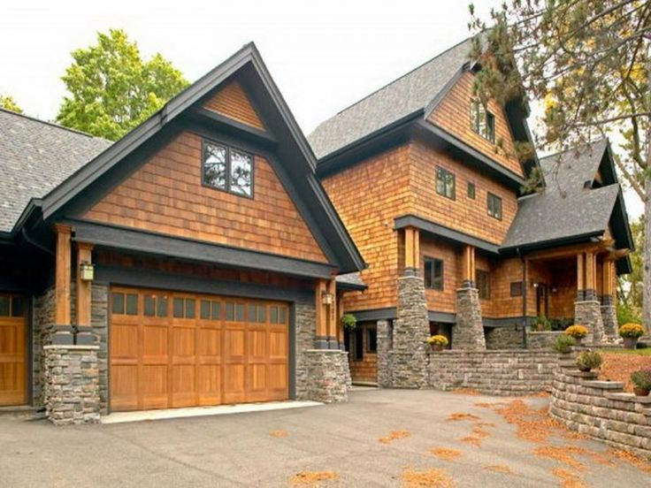 Cedar Shakes Above Garage Door Wooden Unvarnished Coplay