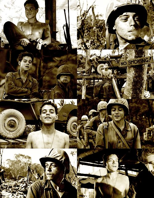 """For me, I looked at Snafu and I thought, """"Here's a guy who probably never thought there was any hope of leaving these islands."""" It began to be his own world, in which he could practically get away with anything, knowing it was his only way to survive. - Rami Malek"""