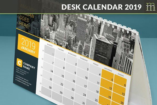 Desk Calendar 2019 Dc029 19 V 2020 G Kalendar Dizajn Raznoe