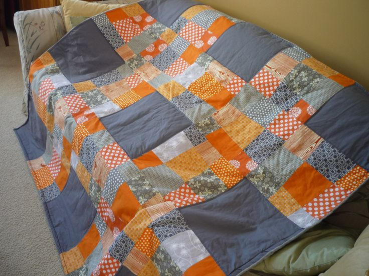 70 Best Quilts Orange And Black Images On Pinterest