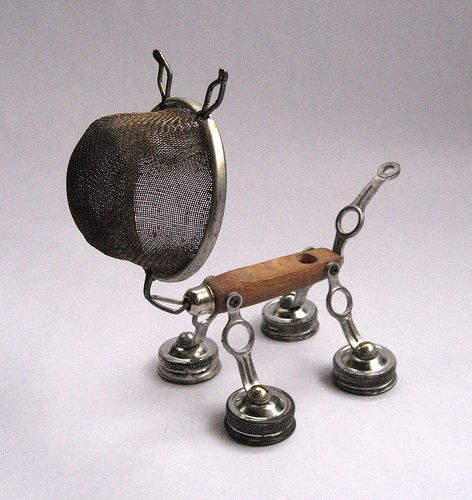 Spike - Robot Assemblage Sculpture by Brian Marshall