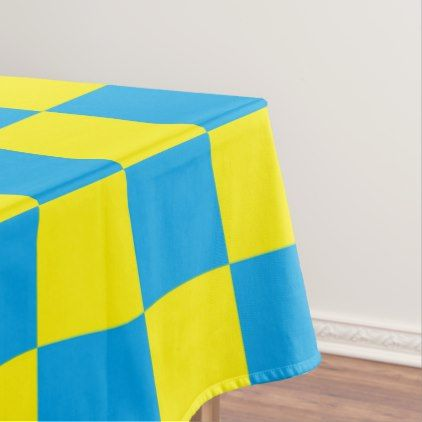Checkered Turquoise and Yellow Tablecloth - fun gifts funny diy customize personal