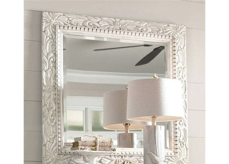 Mirror With Decorative Frame · Bedroom MirrorsLarge ...
