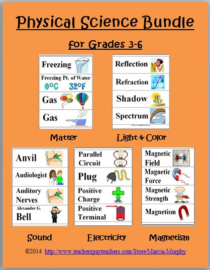 PHYSICAL SCIENCE WORD WALL CARDS BUNDLE