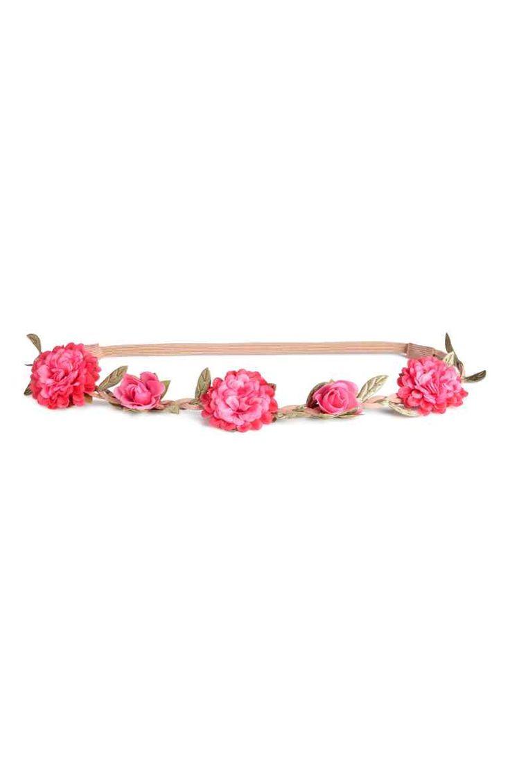 Fascia per capelli con fiori - Rosa - DONNA | H&M IT 1