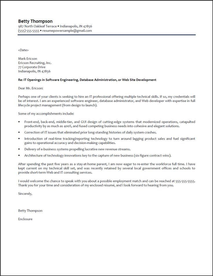 10 best Cover Letter Samples images on Pinterest Administrative - software developer cover letter