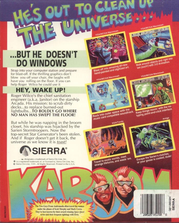 Space Quest I Roger Wilco In The Sarien Encounter 1991 Dos Box Cover Art Mobygames Cover Art Cover Art Walk