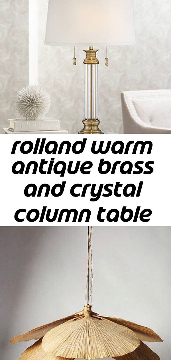 Rolland Brass And Crystal Column Table Lamp 9h213 Lamps Plus