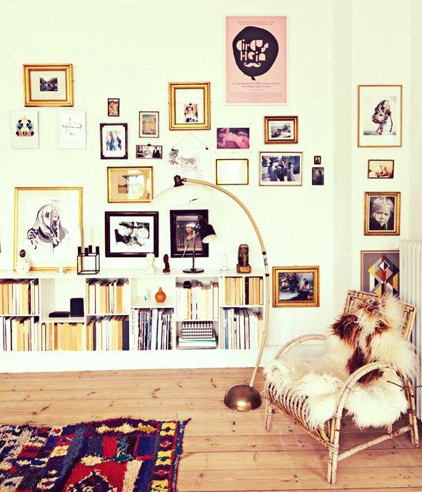 20 idées déco à réaliser avec des cadres Inspiration murs de cadres | http://blog.mydecolab.com @mydecolab