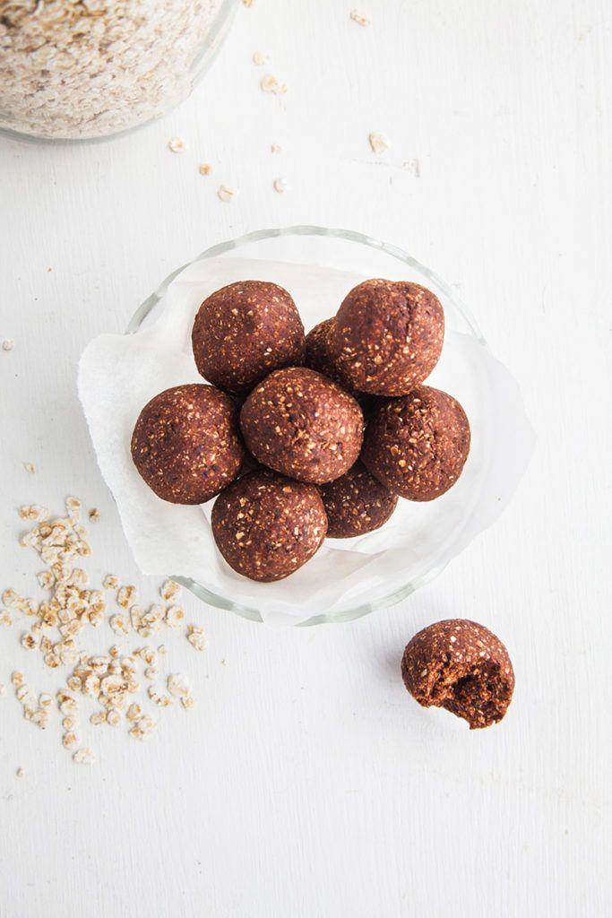 Raw Chocolate Brownie Bites (Low fat & nut-free!) #raw #chocolate #nutfree