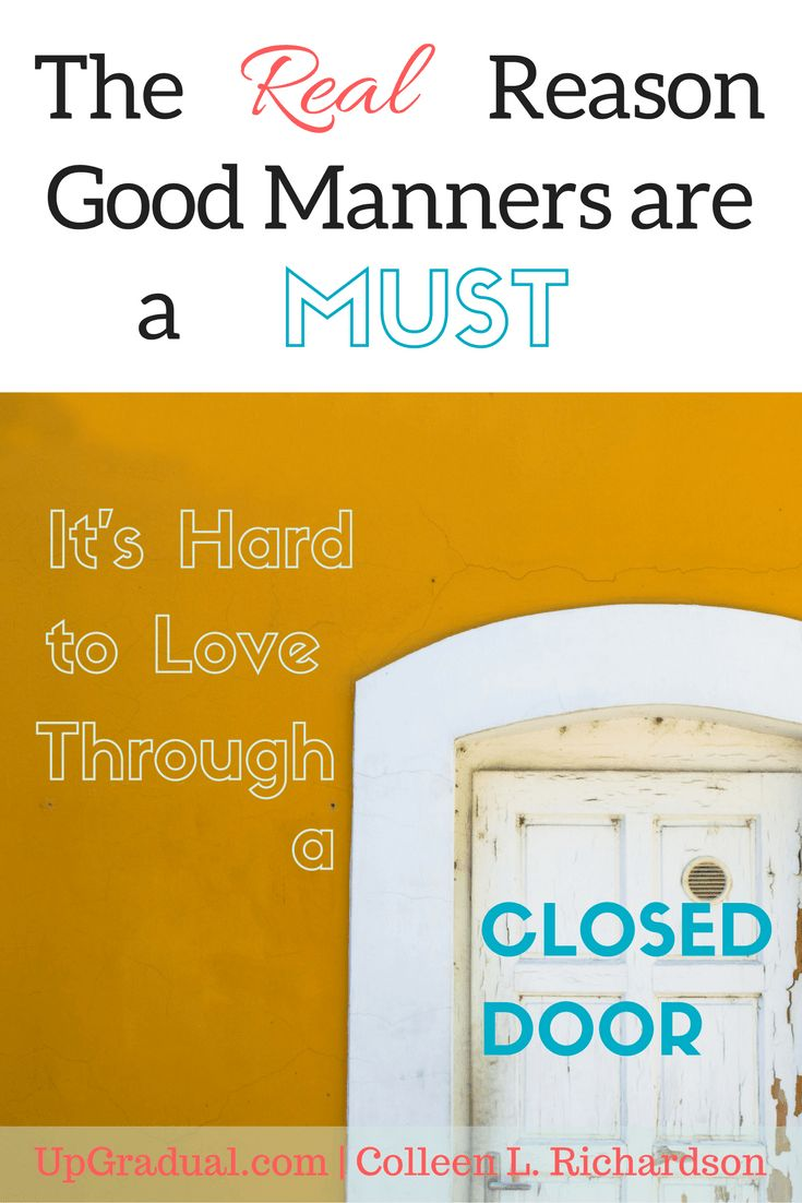 Good Manners are a Must   Proper Manners   Manners Your Child Should Know   Proper Etiquette   Respectful Manners