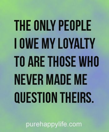 Does anyone have an example of family loyalty?