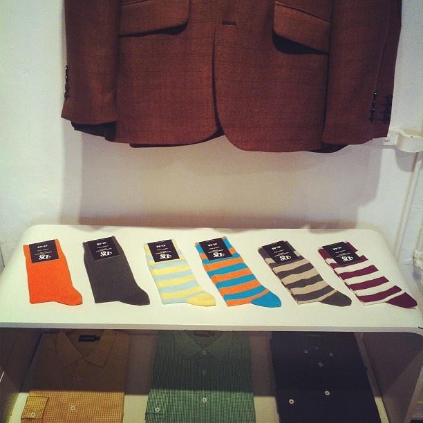 S.T Valentin Århus.     Introducing Democratique Socks #Fresh! http://instagr.am/p/JzIuLrAlF7/