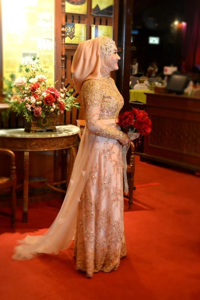 Bridal Hijab With Fashionable Dresses