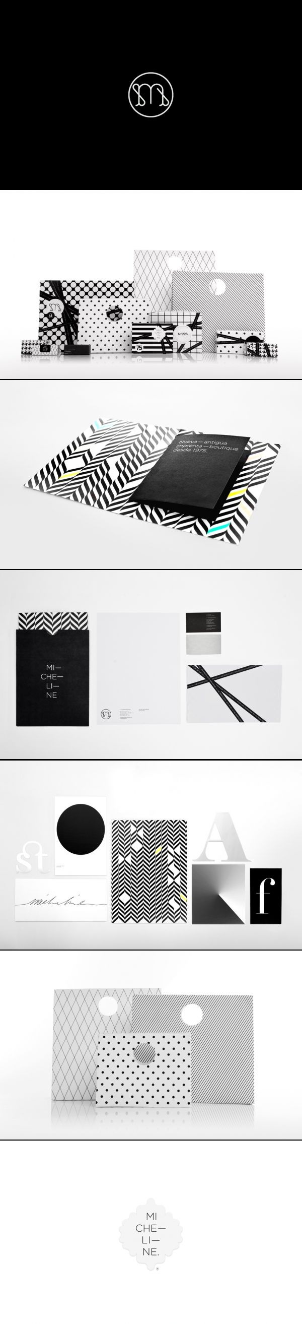 visual identity | Micheline | Anagrama stellar in black and white #packaging #branding