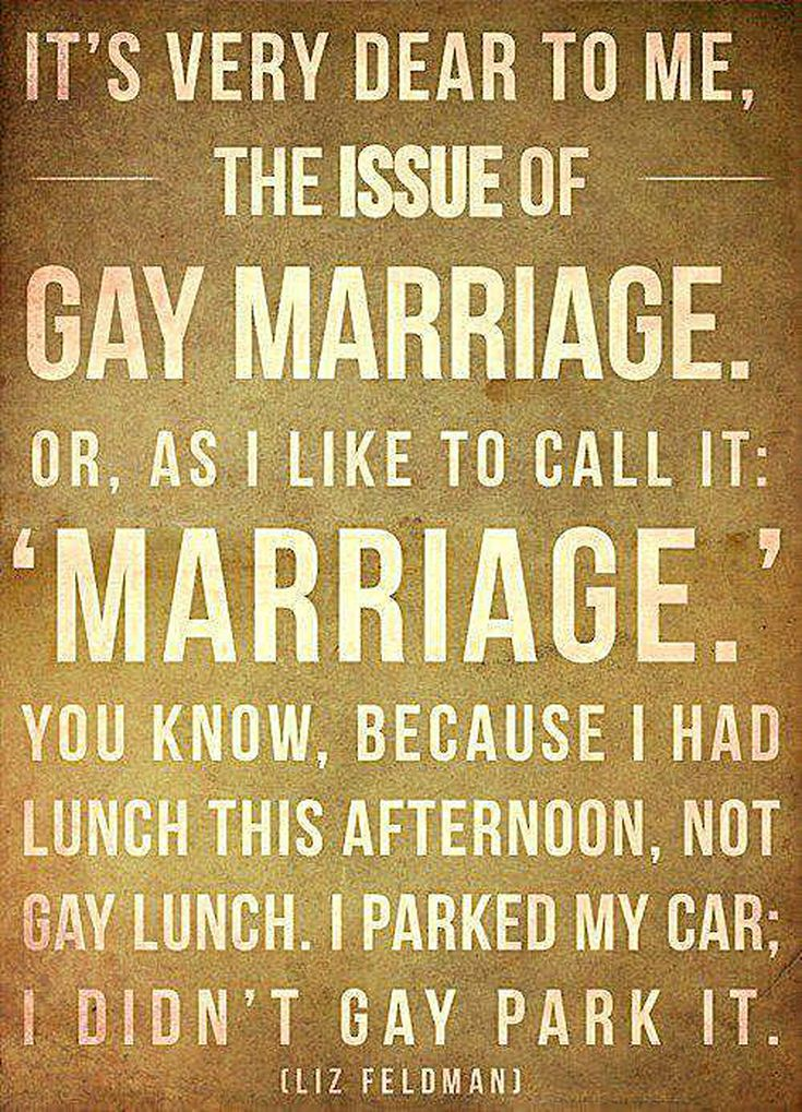 Funny Pro-Gay Marriage Signs and Memes: Gay Marriage Quote