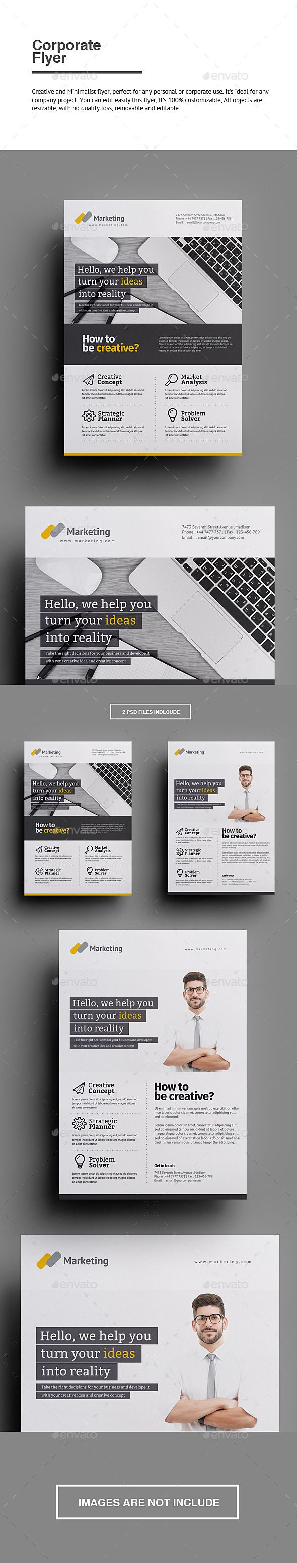 Creative and Minimalist flyer, perfect for any personal or corporate use. It's ideal for any company project. You can edit easily this flyer, It's 100% customizable, All objects are resizable, with no quality loss, removable and editable.