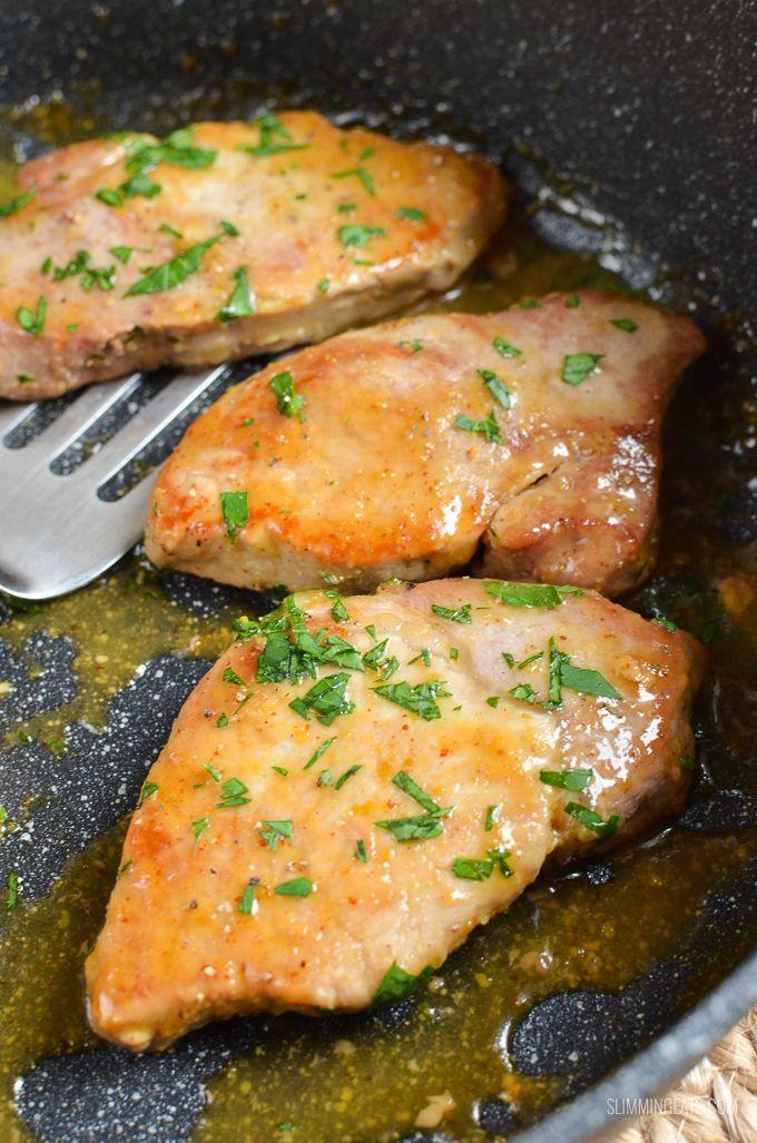 Low Syn Honey Mustard Glazed Pork Loins - gluten free, dairy free, paleo, Slimming World and Weight Watchers friendly