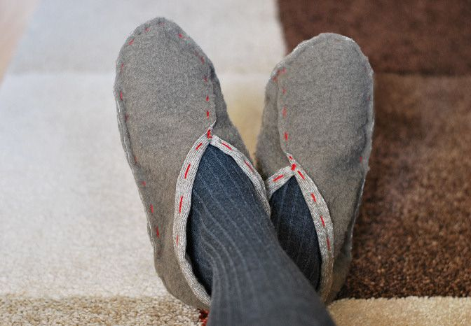 Easy To Sew Slippers | Rags to Couture