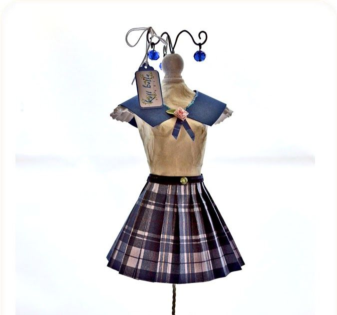As it turns out, my catholic school girl dress form doll is not so reinvented. She looks pretty traditional with a few new twists like the r...