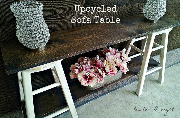 upcycled sofa table from twelveoeight. This woman is a genius