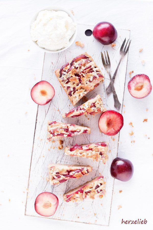 Kuchen Rezepte: Dänischer Haferkuchen mit Marzipan und Pflaumen! Für dieses Rezept habe ich Metis Pflaumen verwendet.  #Dänemark #danmark