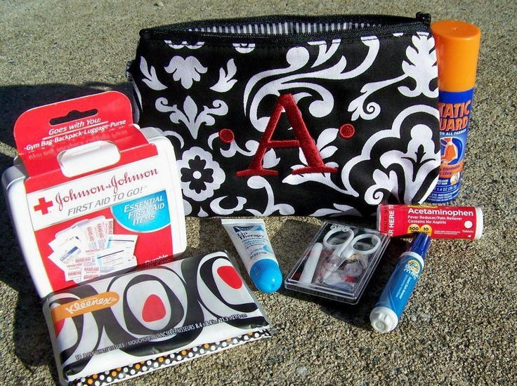 Great first aid kit!  Thirty One zipper pouch :)  Need one of these for my car or purse. Or personalized gift filled with other goodies :)