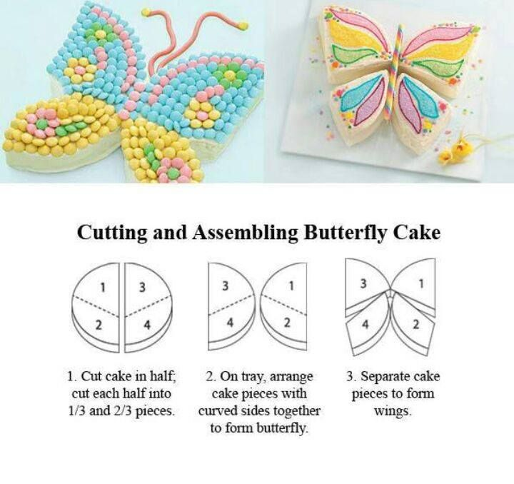 Cutting and Assembling Butterfly Cake Treats Pinterest