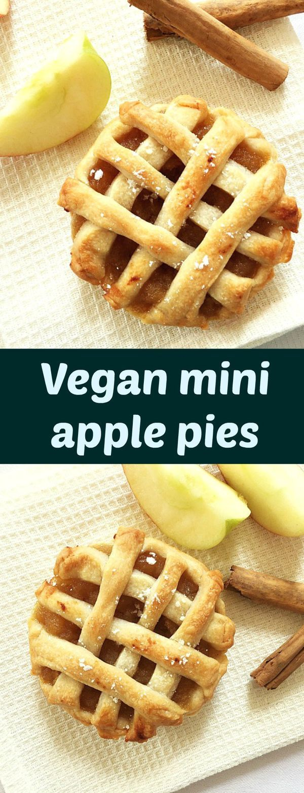 Vegan mini apple pies, my take on an all-time classic recipe. With a delicious apple and cinnamon filling and a fail-proof crust, these pies go down a treat. A perfect dessert for all tastes.
