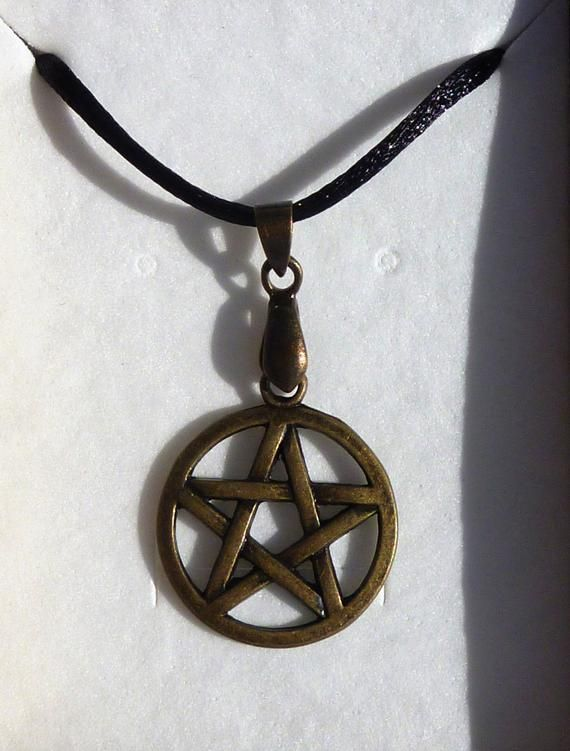 Pentagramm Schmuck Anhänger Messing