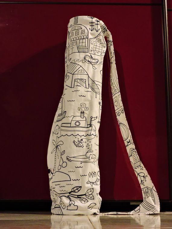 yoga bag mat   74cm x 15cm di MoscaBianca su Etsy
