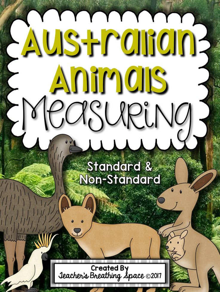 Australian Animals Measuring Book and Measurement Math Center --- Includes materials for standard (inches) and non-standard (units) measurement.