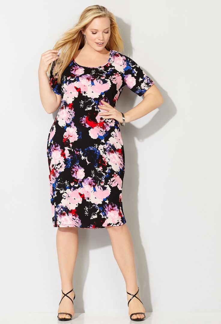 Shop new plus size dresses for work or cocktails like the plus size Blush Floral Sheath available online at avenue.com. Avenue Store