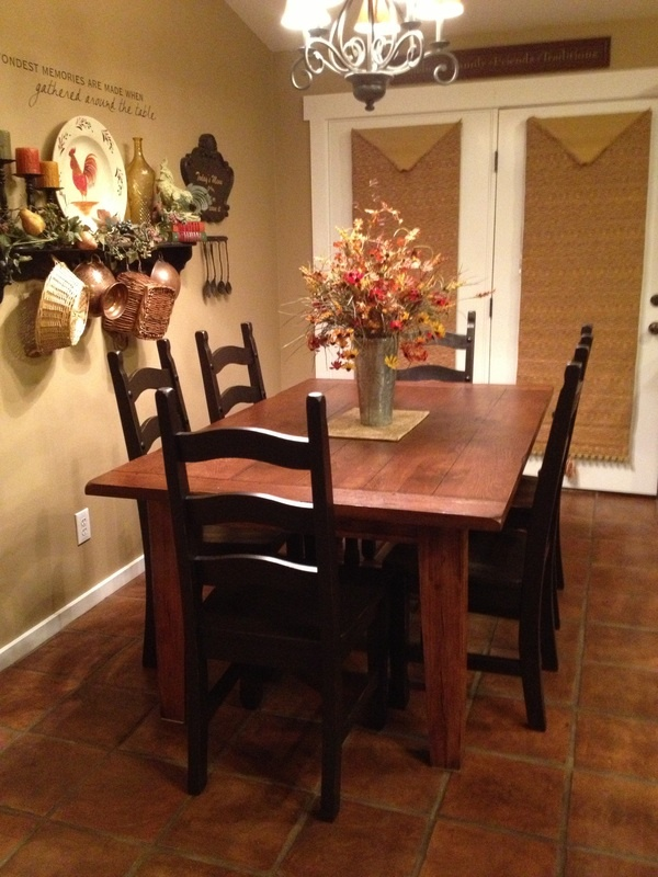 my farmhouse kitchen table the love of recycling slightly used items in - My Home Blog