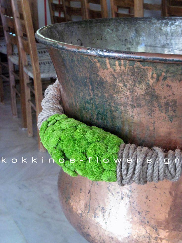 Διακόσμηση κολυμπήθρας - γιρλάντα με σχοινί & santini