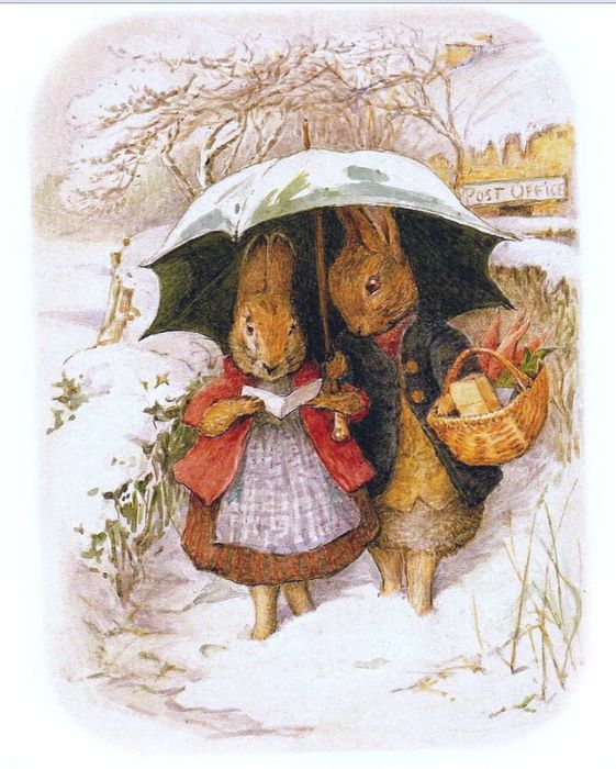 Beatrix Potter; Bunnies in Winter