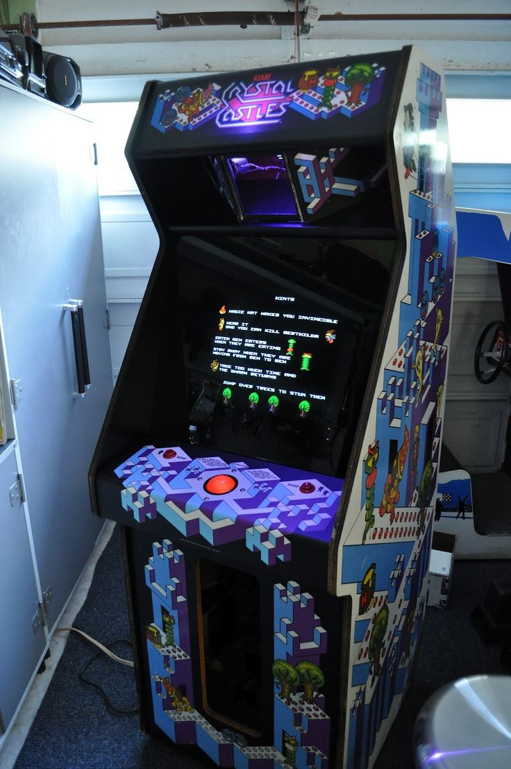 Crystal Castles arcade cabinet