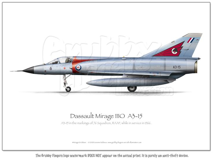 Mirage IIIO A3-15 Bare - Click Image to Close