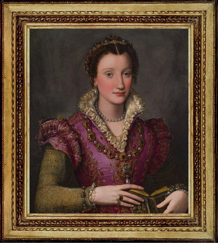 Reframing ALESSANDRO ALLORI's Portrait of a Lady, probably Camilla Martelli de'Medici, 1570s, for Saint Louis Art Museum