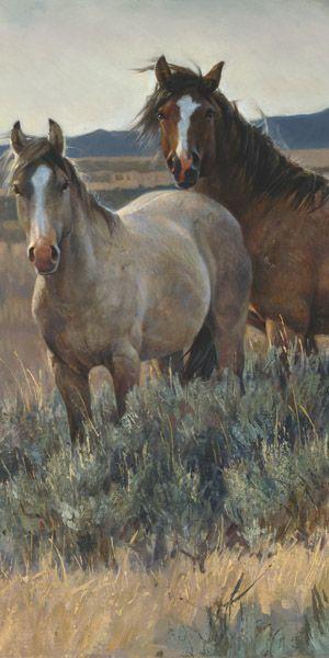Amazing Grays II ~ by Nancy Glazier #equine #art #horses