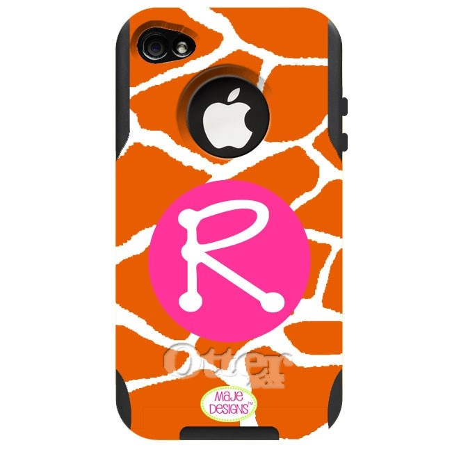Monogrammed Giraffe Otterbox Cell Phone Case - Motoral, HTC, Droid, Blackberry, iPhone4