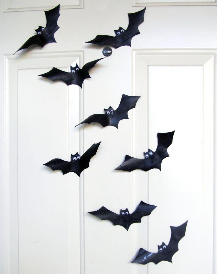 How to make Halloween Bats from Inner tubes + bat template