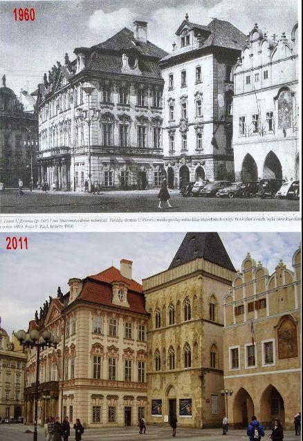 dům U Zvonu. Staroměstské náměstí - Koláž: Václav Víšek