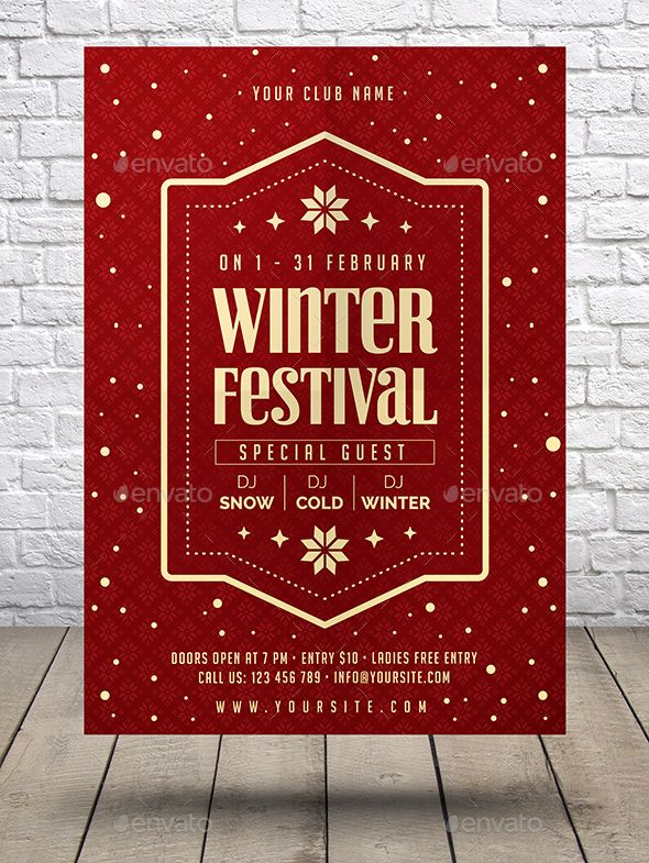 11 best flyers images on Pinterest Posters, Charts and Flyers - winter flyer template