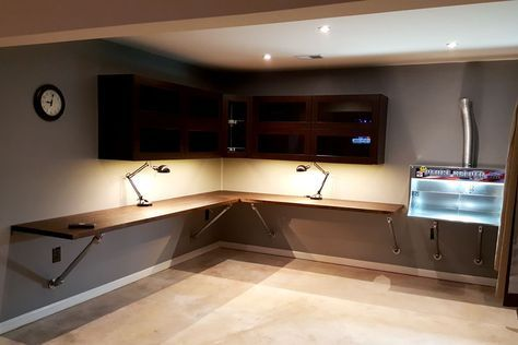 Wall Mounted Corner Workbench For Iwan S Office Space