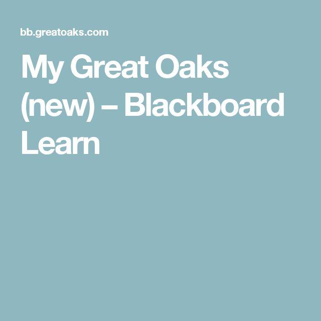 My Great Oaks (new) – Blackboard Learn