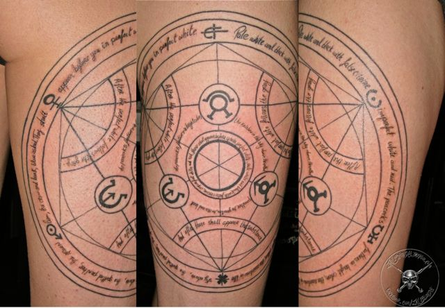 Transmutation Circle Tattoo: 54 Best Full Meatl Alchemist Tattood. (this People Are