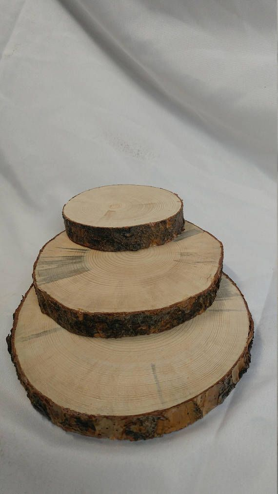 Rustic Wood Cookie Slices 3 5 4 And 6 7 Options For Wedding